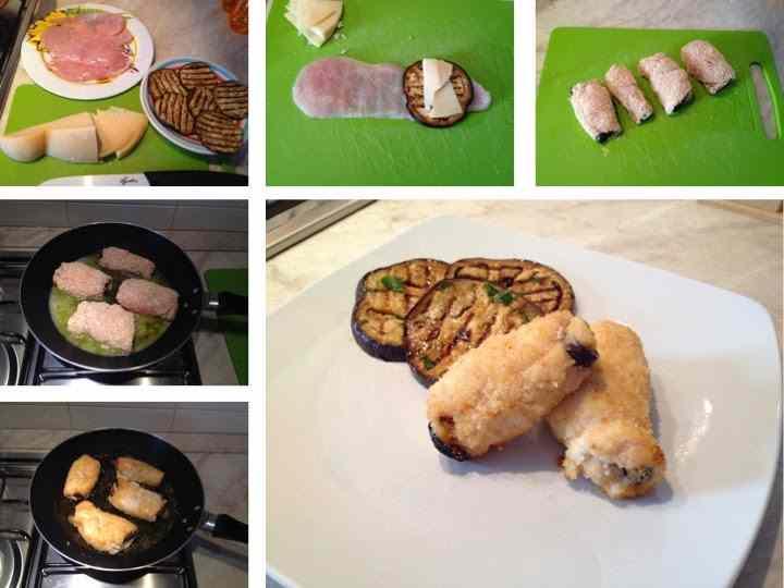 Ricetta: Involtini di pollo, melanzane e caciocavallo