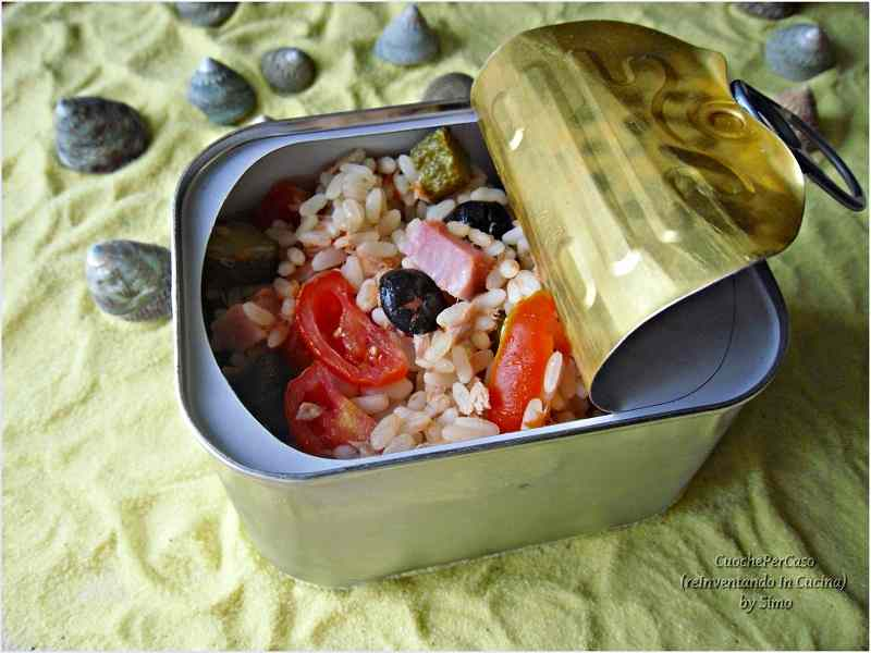 Ricetta: Riso freddo alle olive e prosciutto
