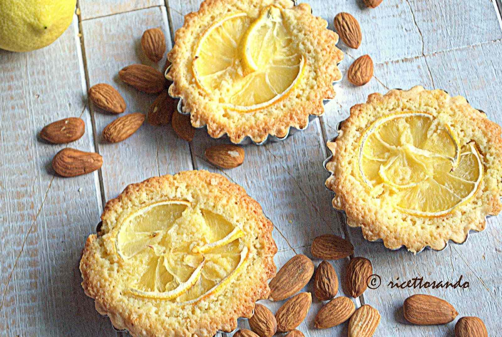 Ricetta: Crostatine al limone e frangipane