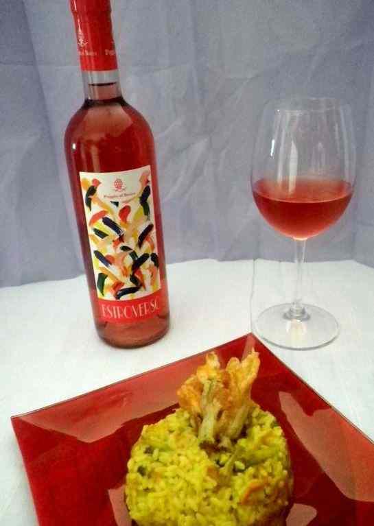 Ricetta: Risotto con fiori di zucca zafferano e Vino Rosato