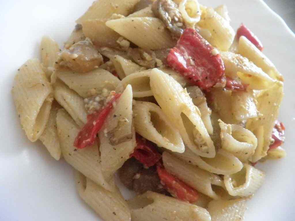Ricetta: Carbonara con melanzana e peperone