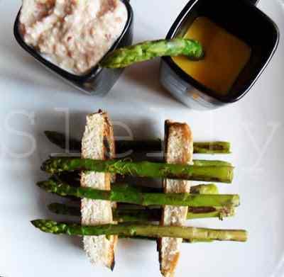 Ricetta: Ricostruzione degli asparagi con prosciutto e fontina e con maionese