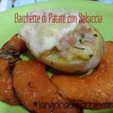 Barchette di patate ripiene con salsiccia