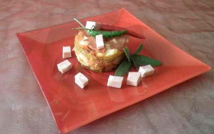 Parmigiana di finocchi con mortadella Bologna