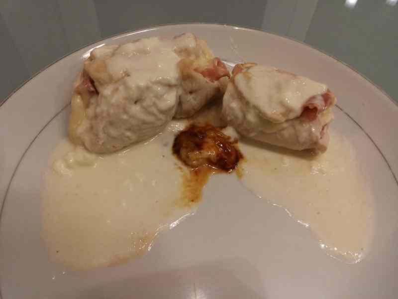 Ricetta: Involtini di pollo con crema al formaggio