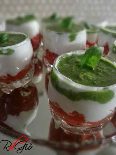 Ricetta: Bicchierini tricolore