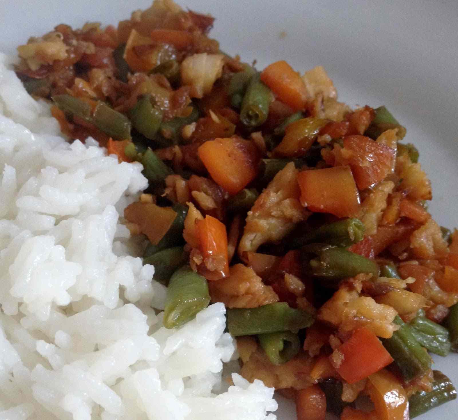 Ricetta: Riso basmati con merluzzo e verdure saltate