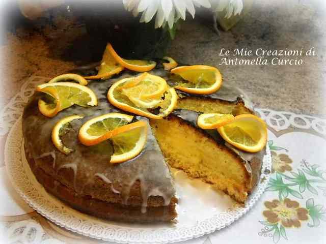 Torta all'arancia senza glutine e senza lattosio