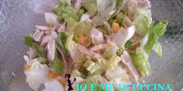 RICETTARICICLO  Insalata di petto di pollo avanzato