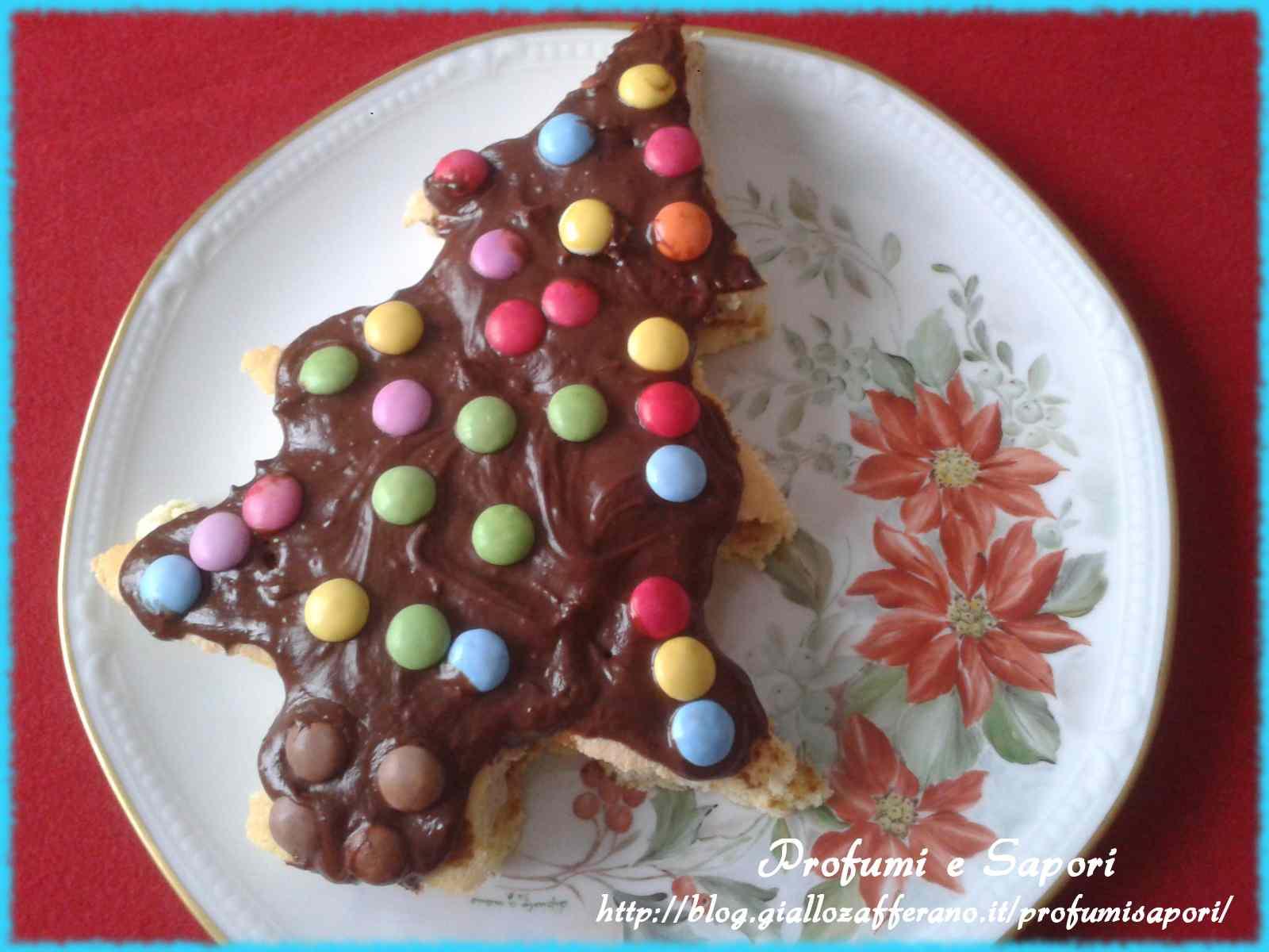 Alberello di Natale con la nutella