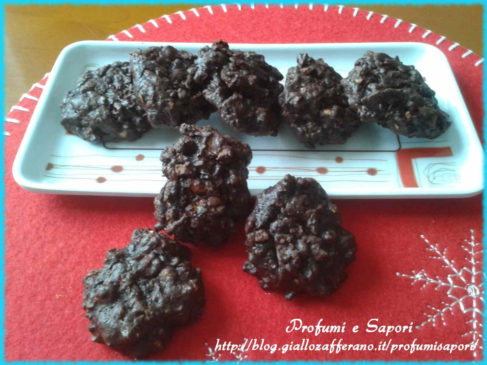 Ricetta: Cookies al doppio cioccolato