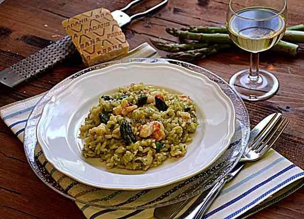 Ricetta: Risotto, asparagi e gamberi