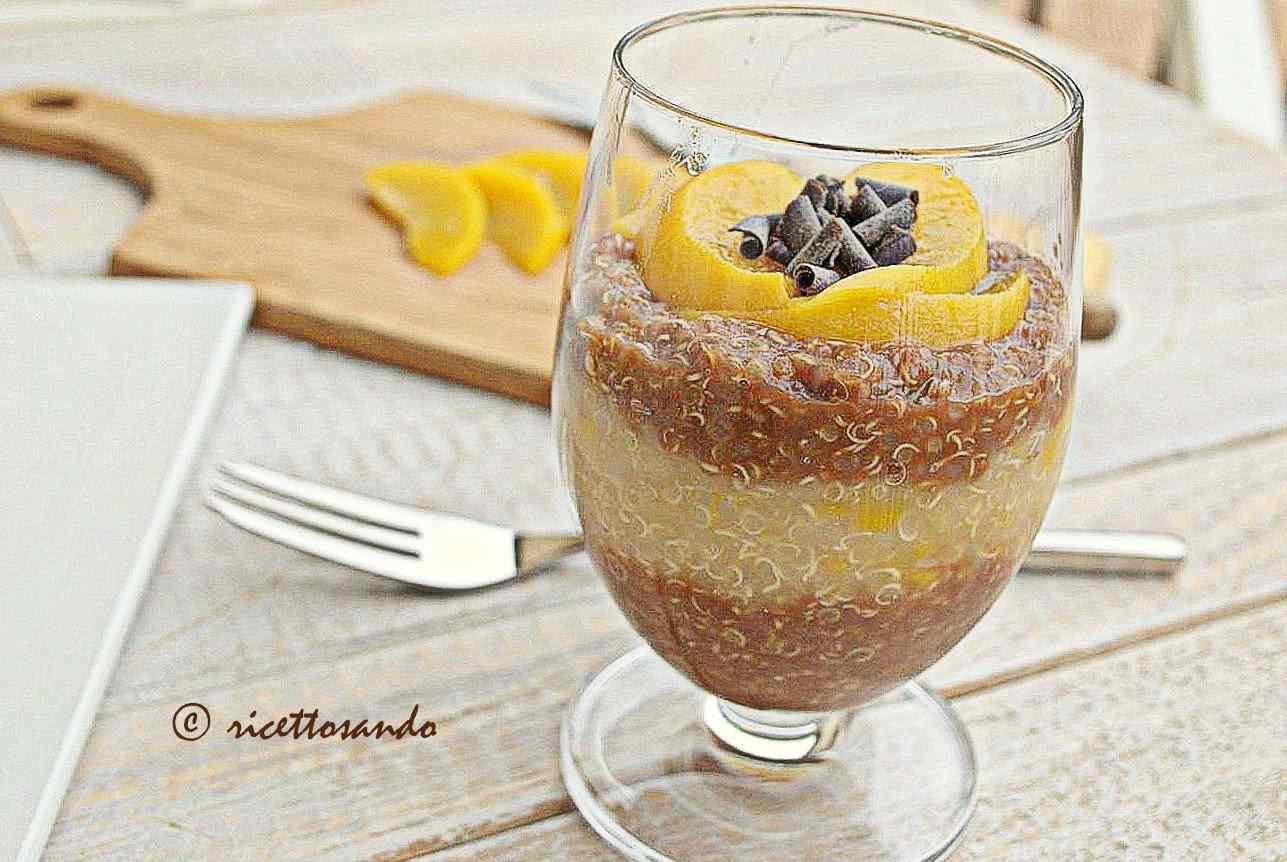 Ricetta: Budino senza latte alla quinoa
