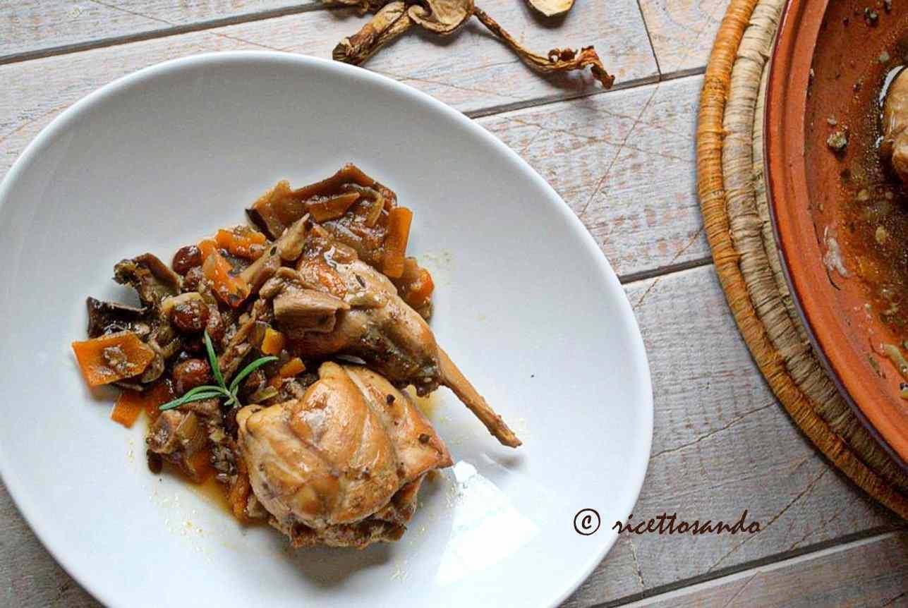 Ricetta: Coniglio ai funghi in salsa di soia