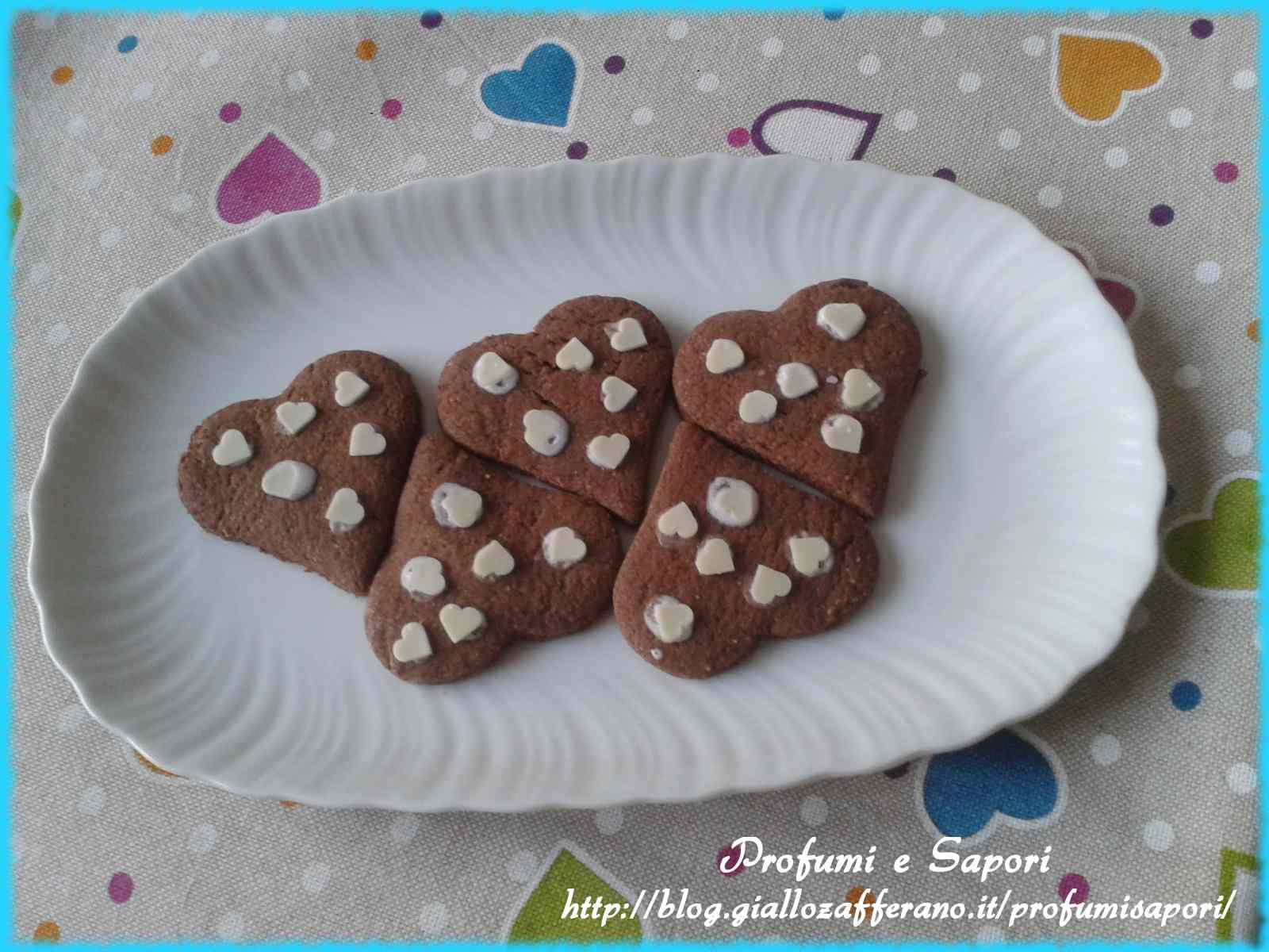 Ricetta: Biscottini cuoricini bicolori