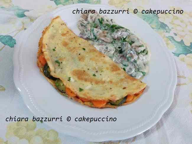 Omelette alla francese vegetariana