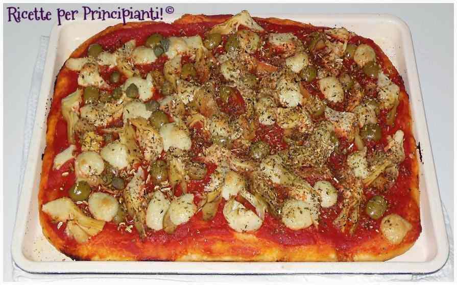 Pizza kamut vegana
