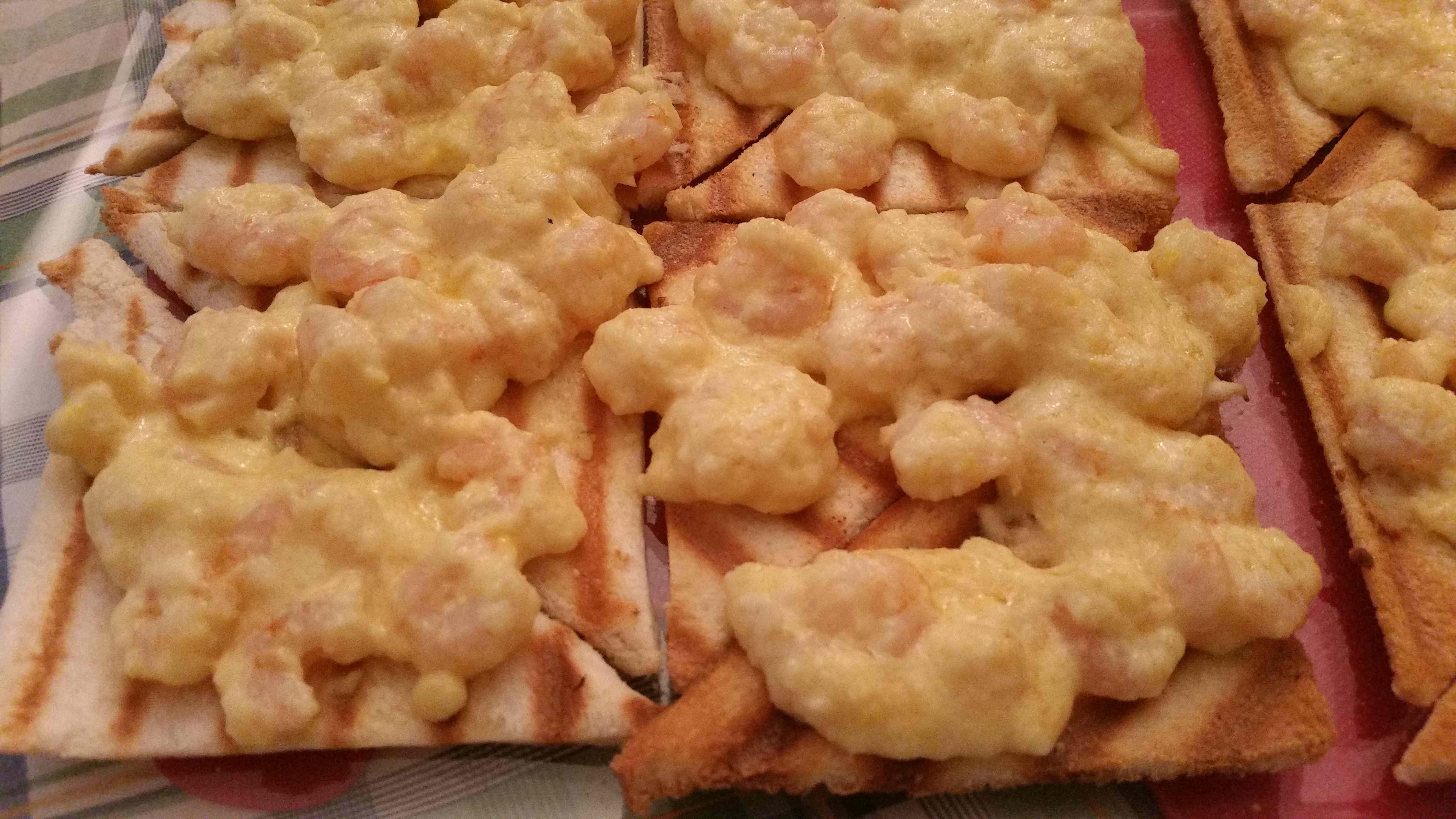 Ricetta: Crostini di gamberetti