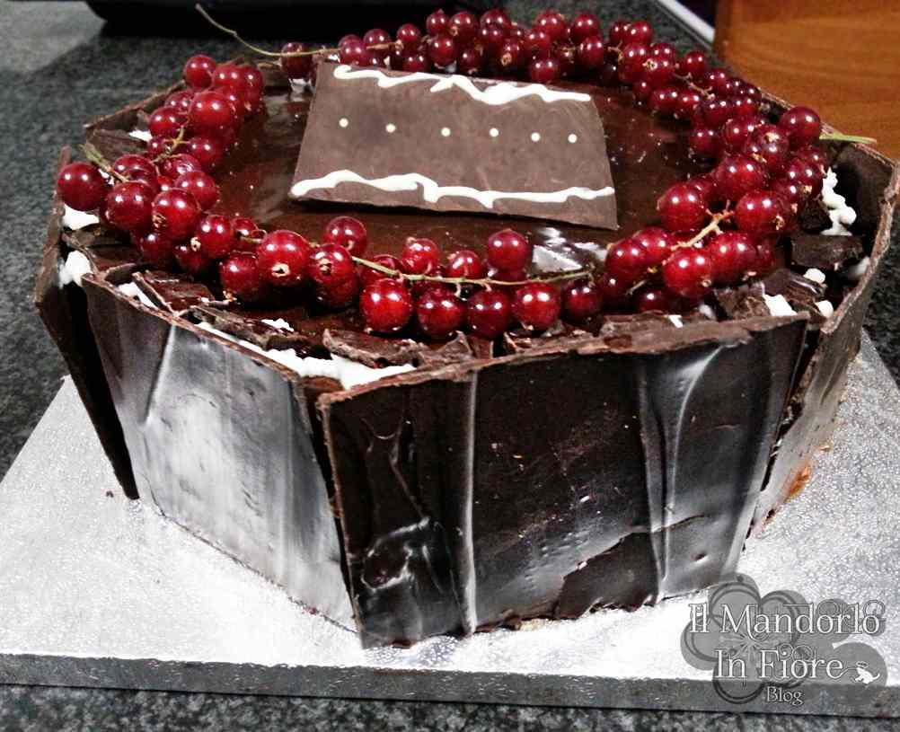 Ricetta: Torta cioccolato panna e ribes