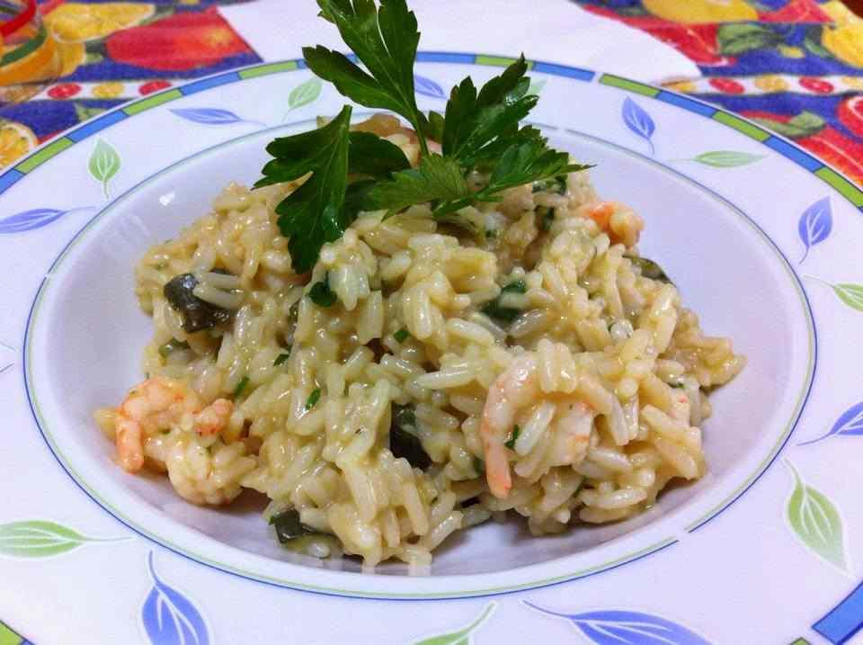 Ricetta: Risotto gamberetti e zucchine