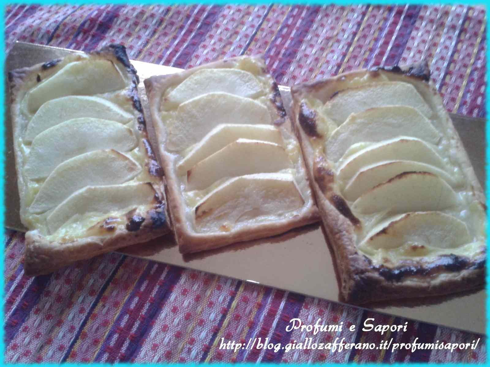 Ricetta: Sfogliette alle mele e crema pasticciera