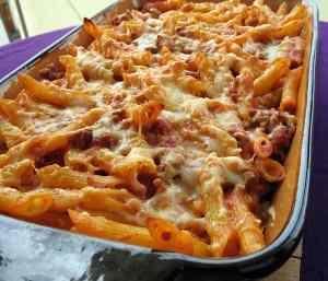 Ricetta: Pennette al forno con mozzarella