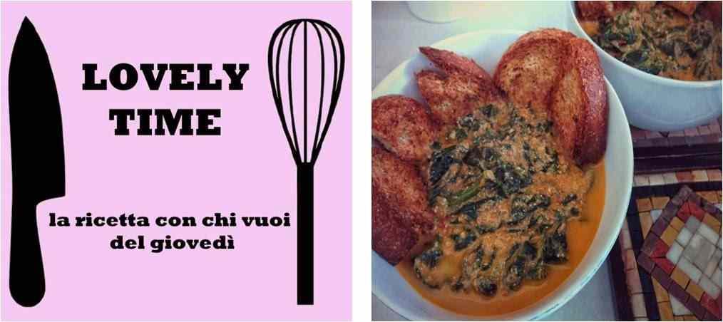 Zuppa di spinaci con ricotta e crostini