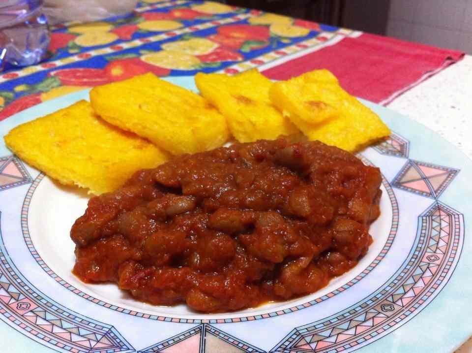 Ricetta: Fagioli alla messicana con crostini di polenta