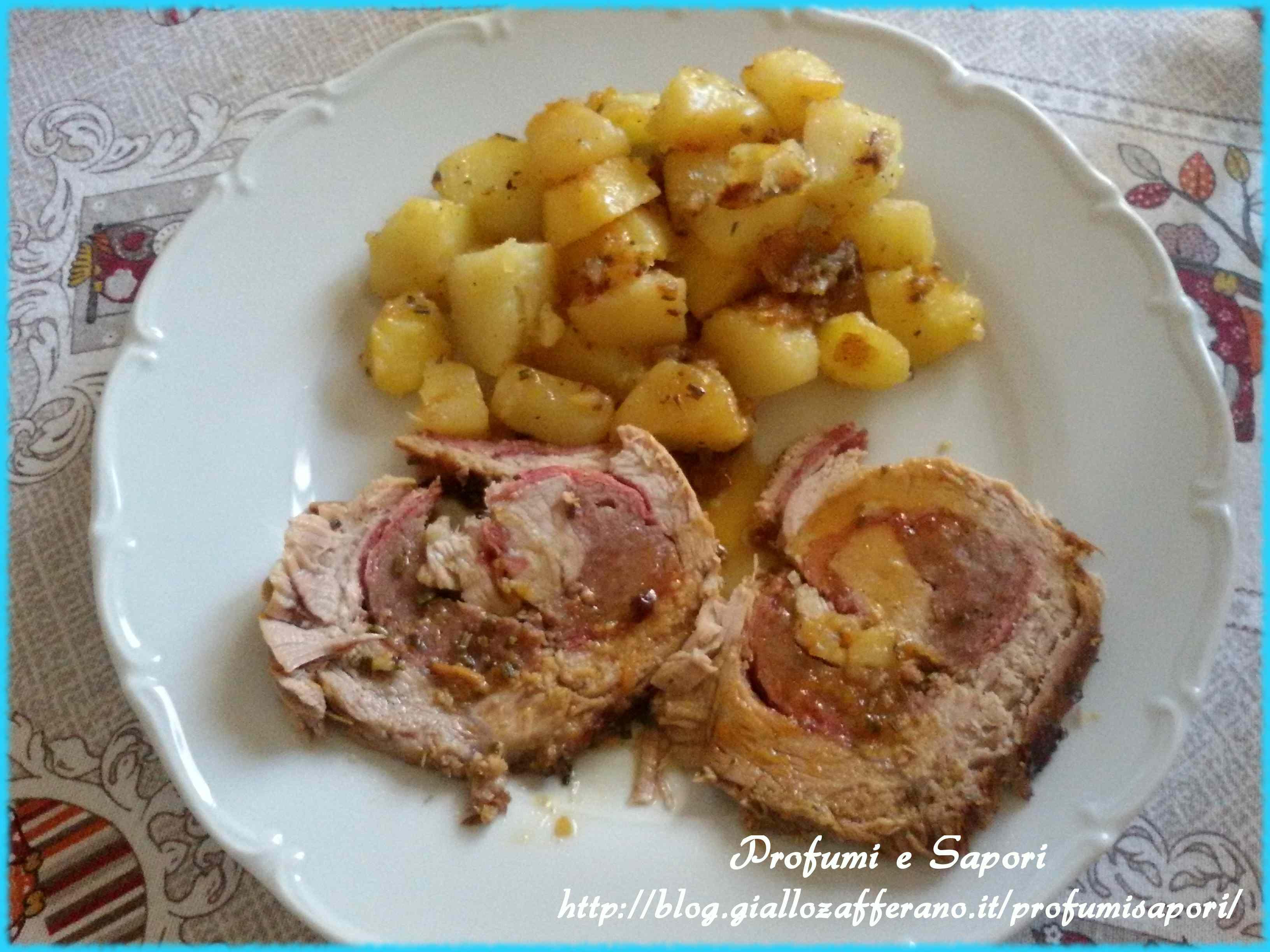 Ricetta: Arrosto ripieno con prosciutto e salsiccia