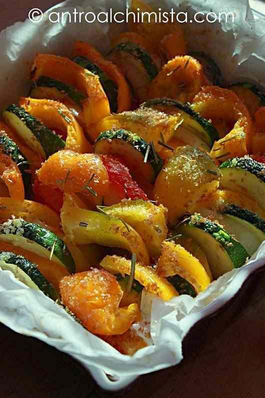 Ricetta: Verdure Gratinate con Crusca d'Avena e Rosmarino