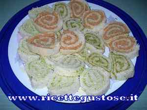 Rotolini di pan carrè farciti