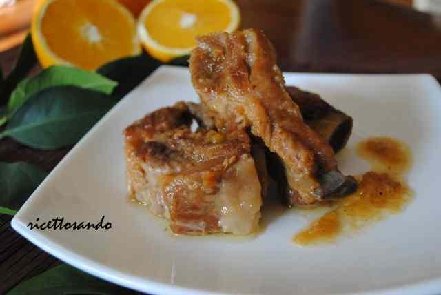 Ricetta: Costine caramellate con renette e arancia