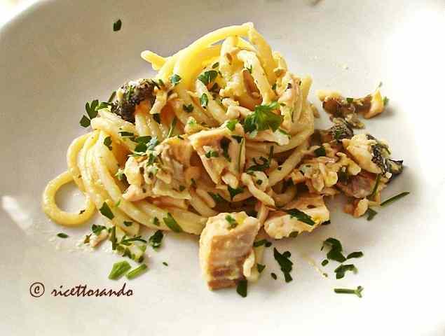 Ricetta: Spaghetti con trota salmonata