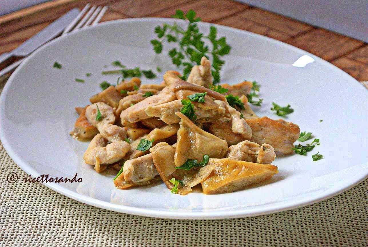 Ricetta: Straccetti di pollo con funghi