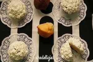 Muffins con ganache al cioccolato bianco