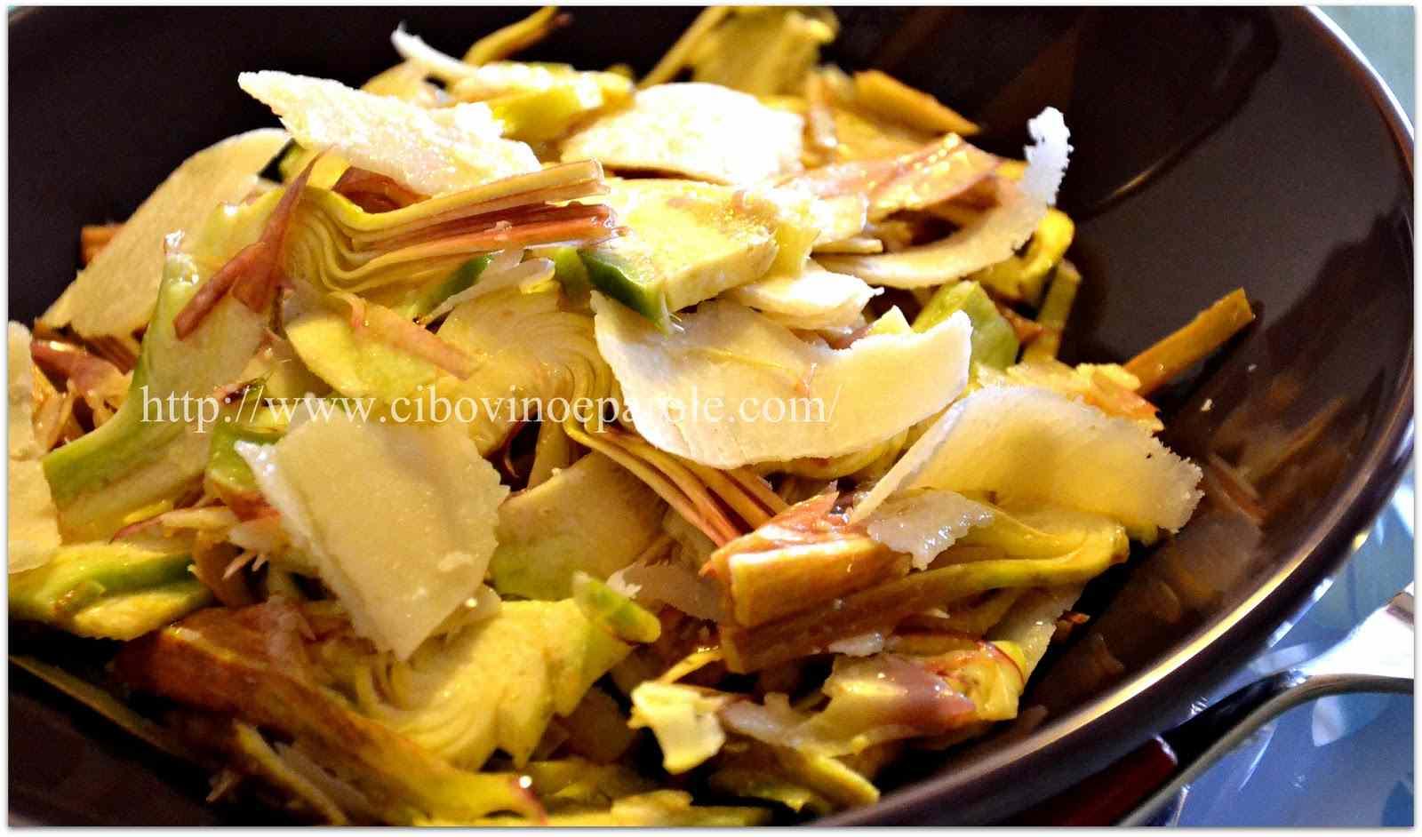 Ricetta: Insalata carciofi e parmigiano