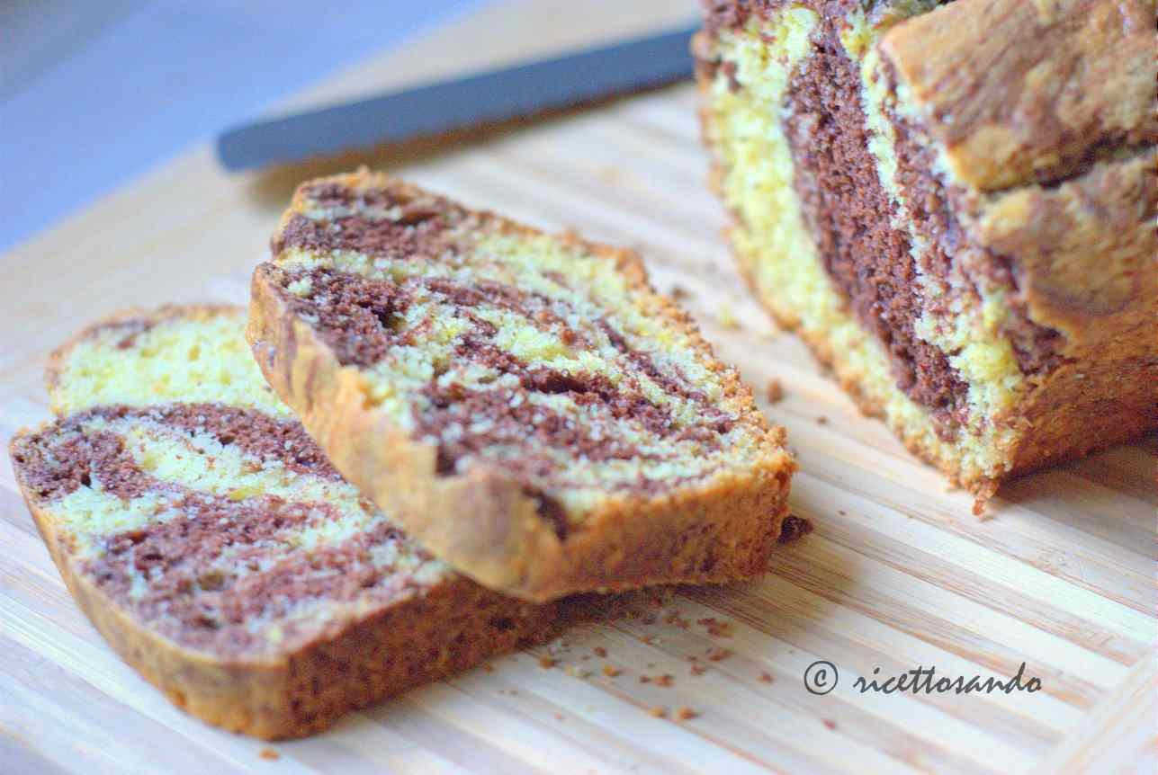 Ricetta: Plumacake variegato al cacao effetto marmorizzato
