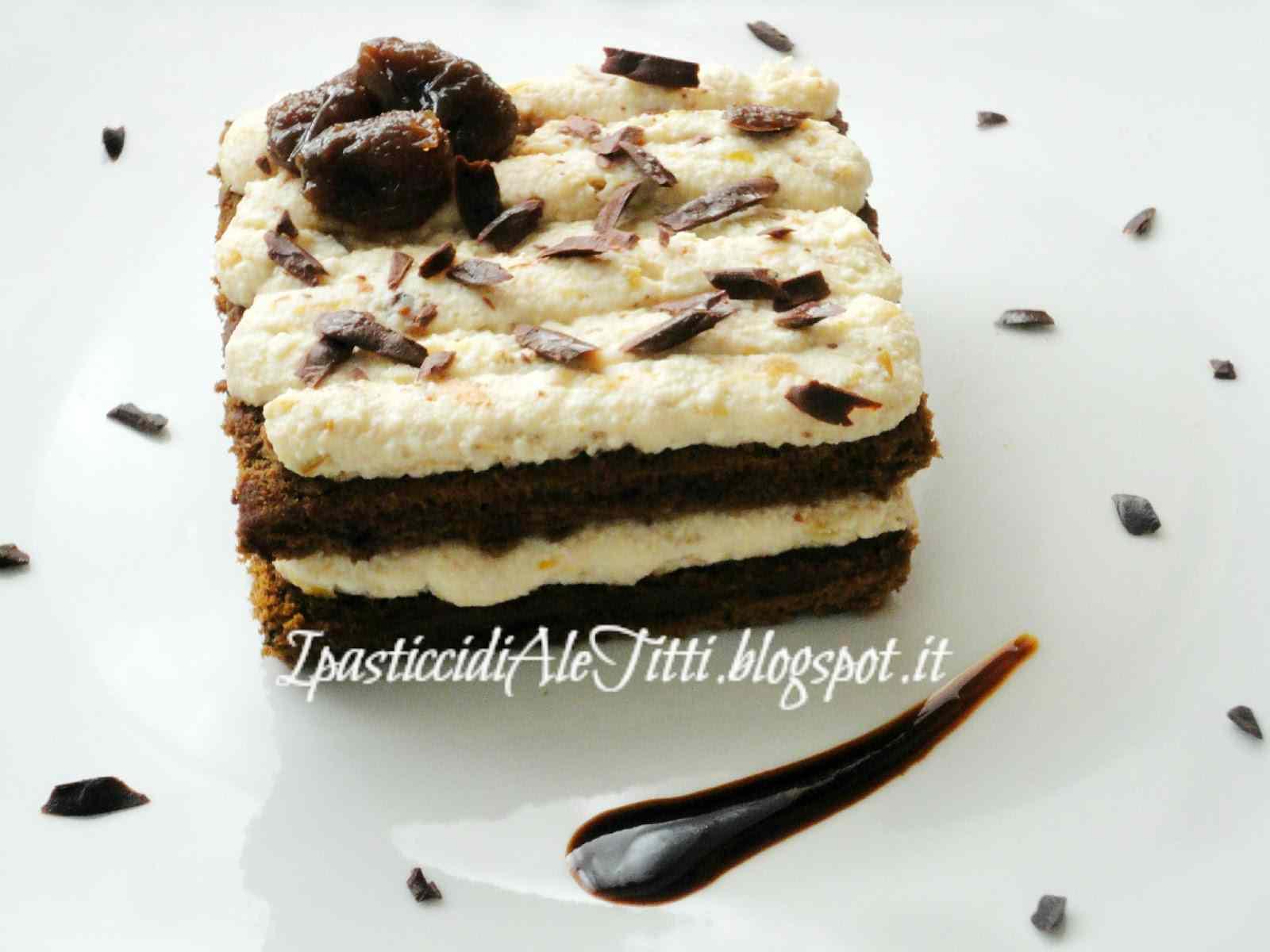 Ricetta: Biscuit al caffe con mousse di ricotta ai fichi caramellati