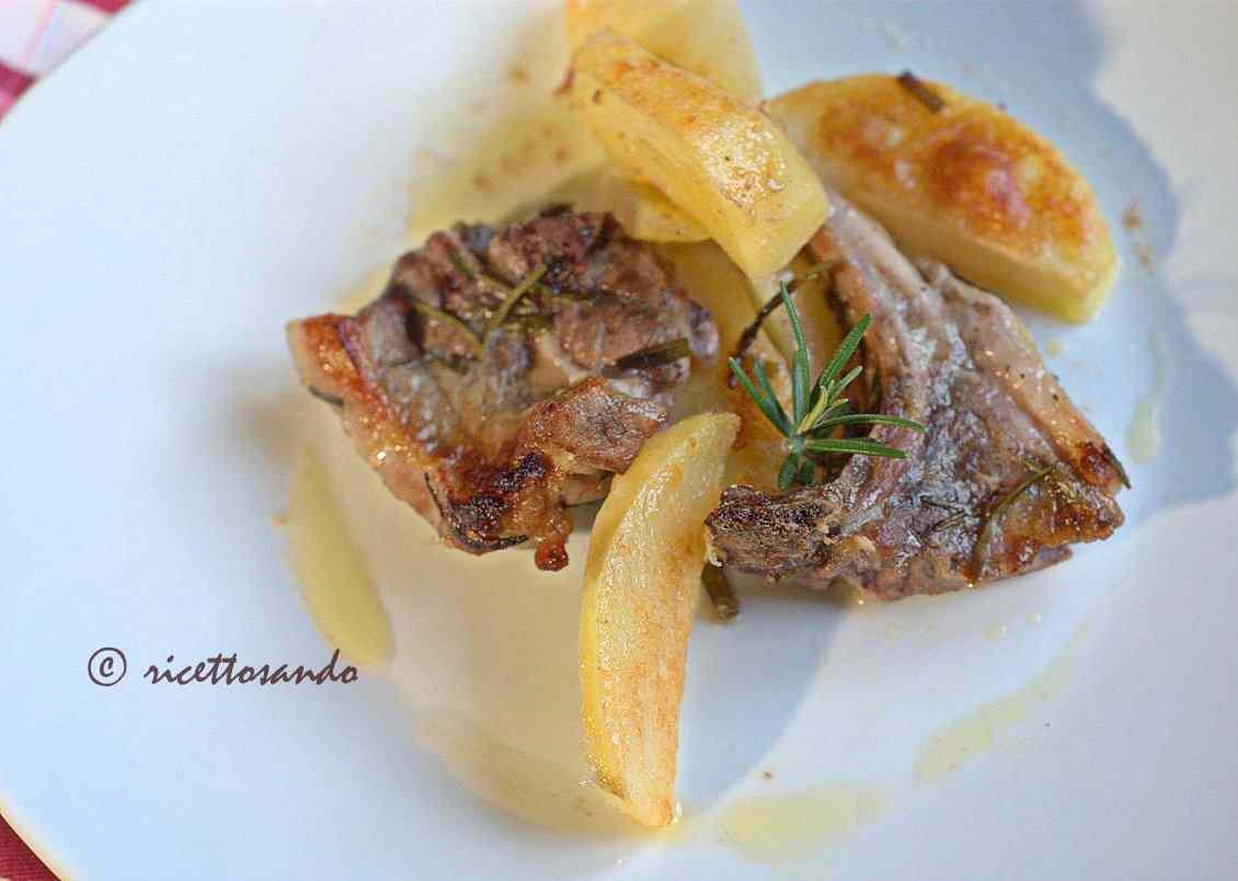 Ricetta: Lombatine di agnello al forno con patate