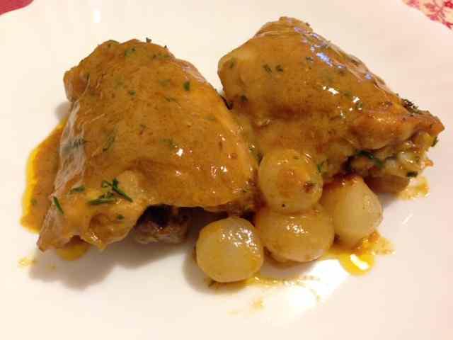 Ricetta: Pollo alla senape con paprika e cipolline