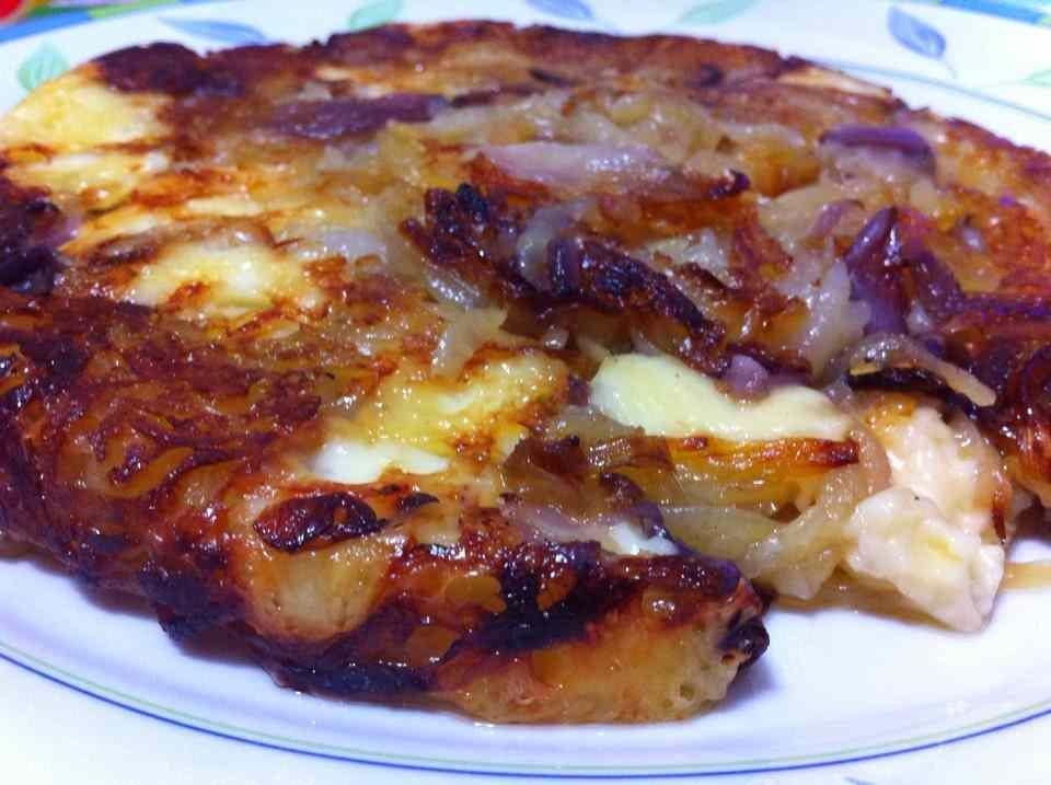 Ricetta: Frico al forno con pancetta e cipolle
