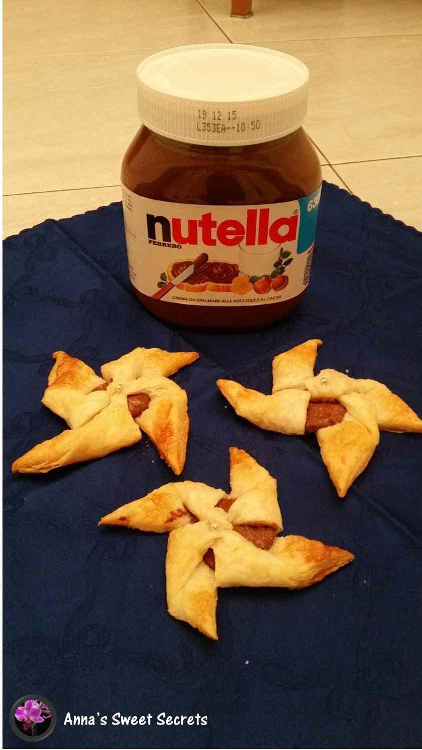 Ricetta: Le girandole di pasta sfoglia alla Nutella