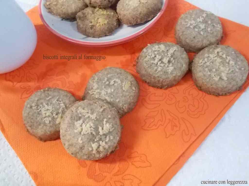 Ricetta: Biscotti integrali al formaggio