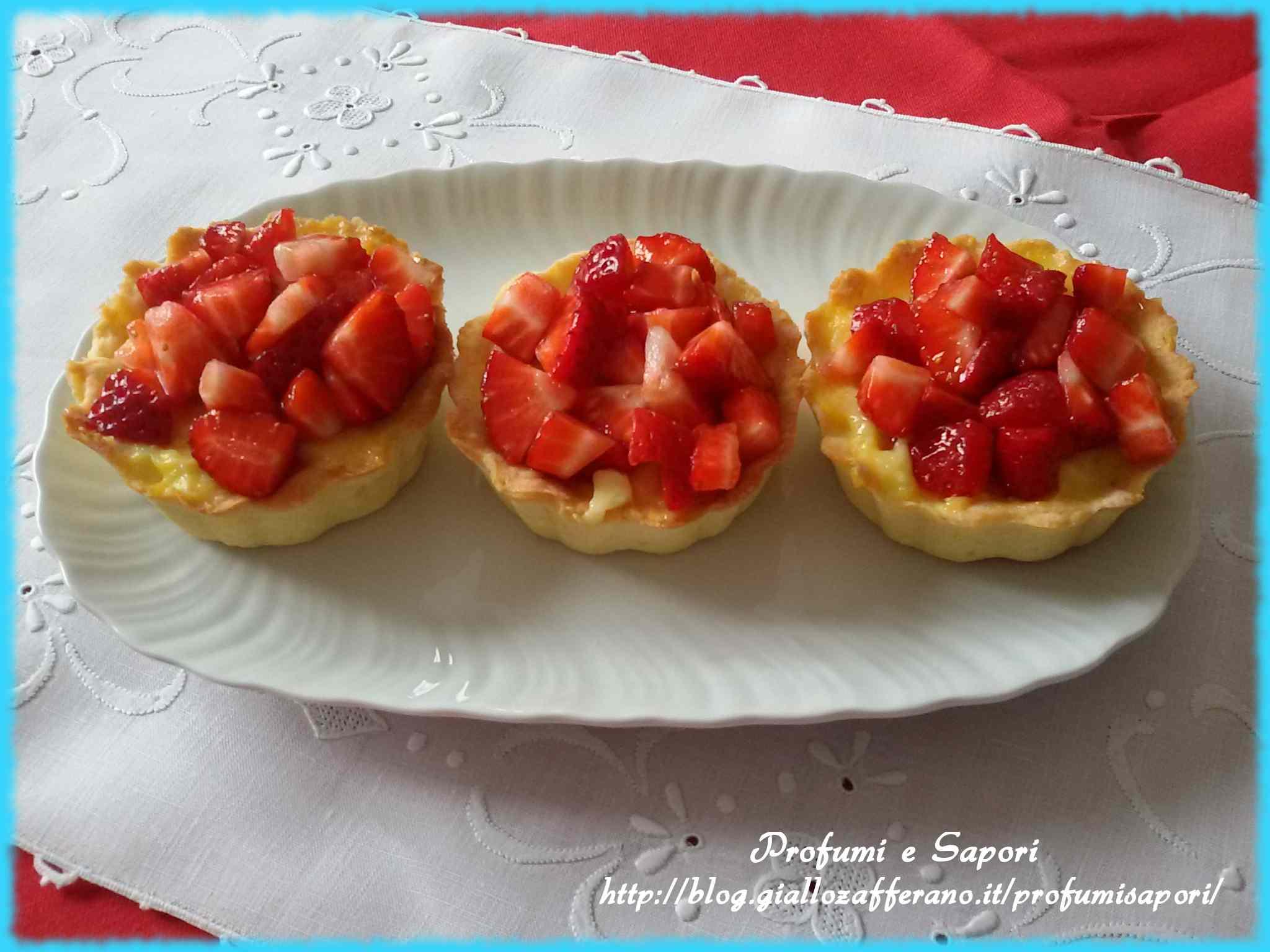 Ricetta: Tartelle alla crema pasticcera e fragole