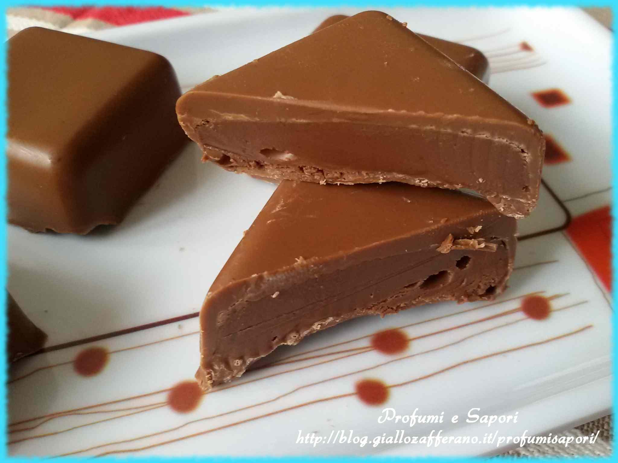 Ricetta: Cioccolatini al latte ripieni di nutella