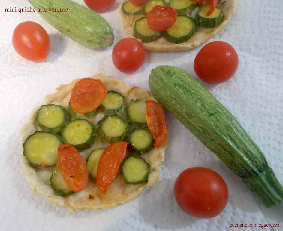 Ricetta: Mini quiche alle verdure