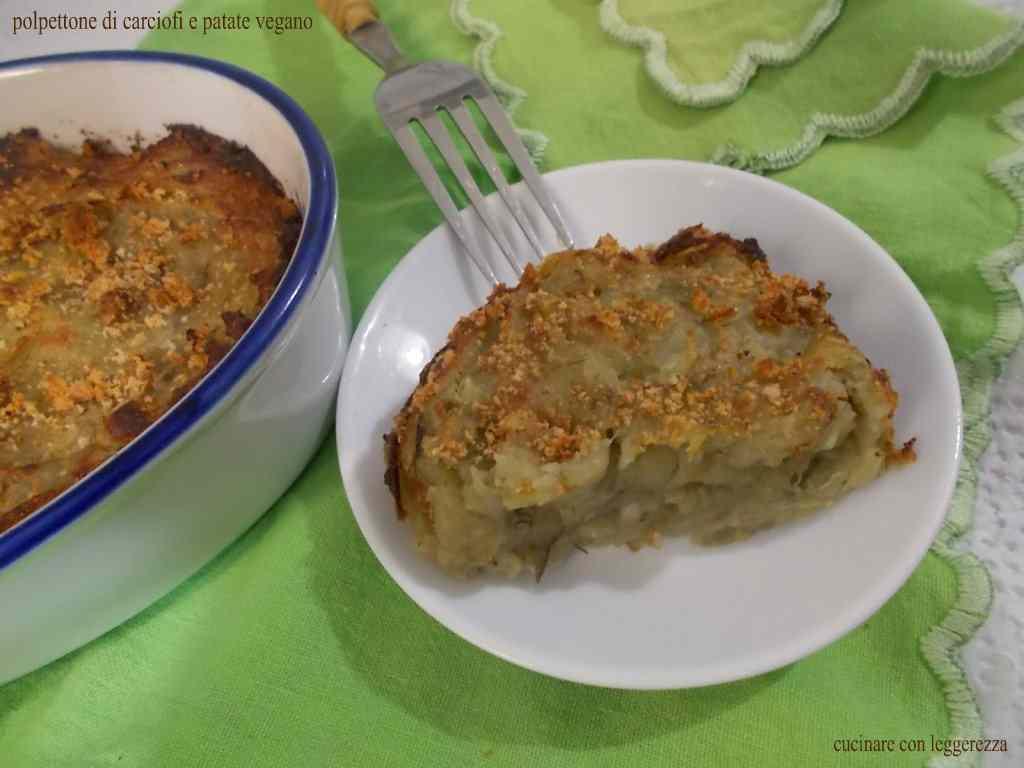 Ricetta: Polpettone di carciofi e patate vegano