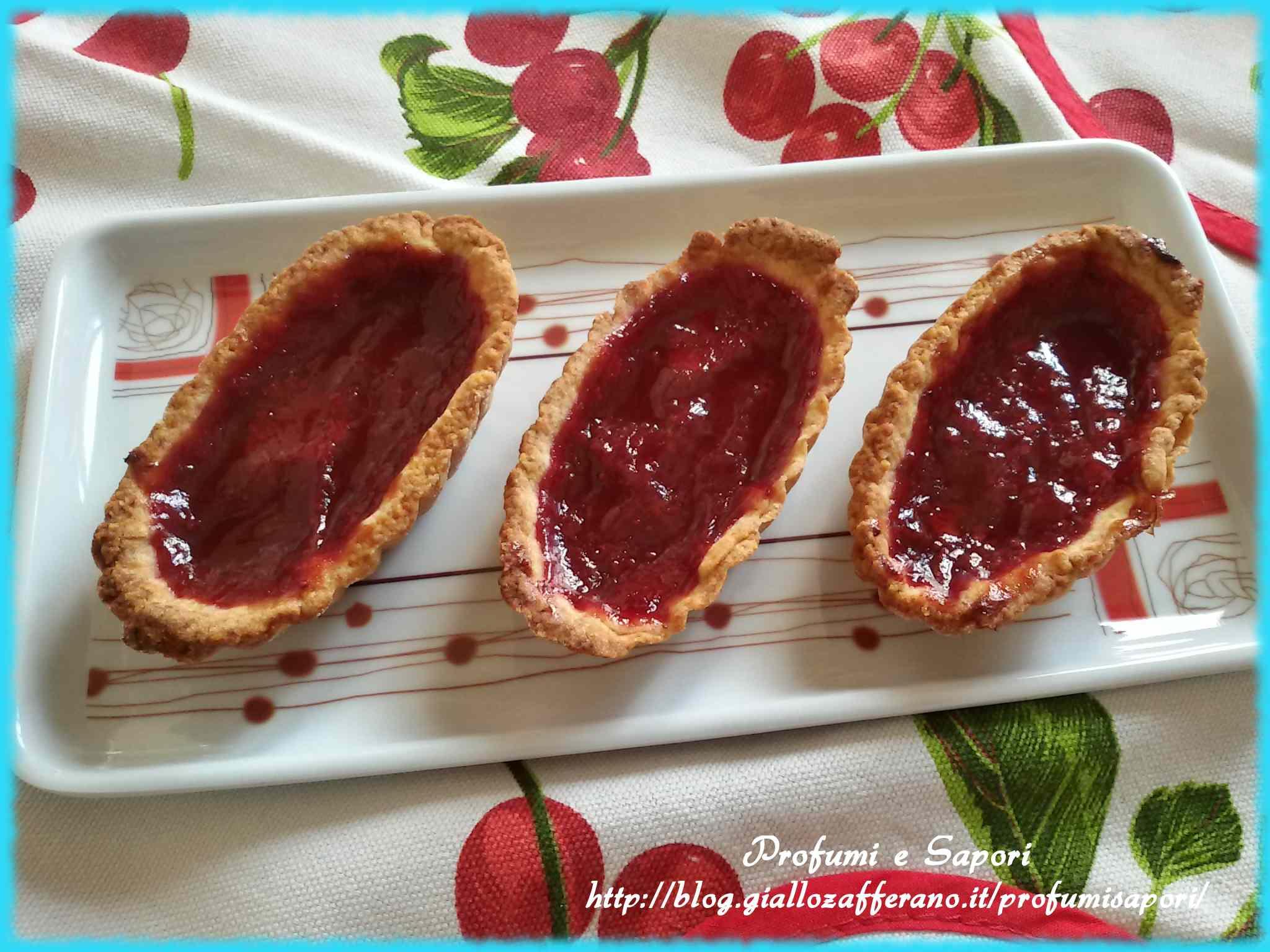 Ricetta: Barchette alla marmellata senza zucchero