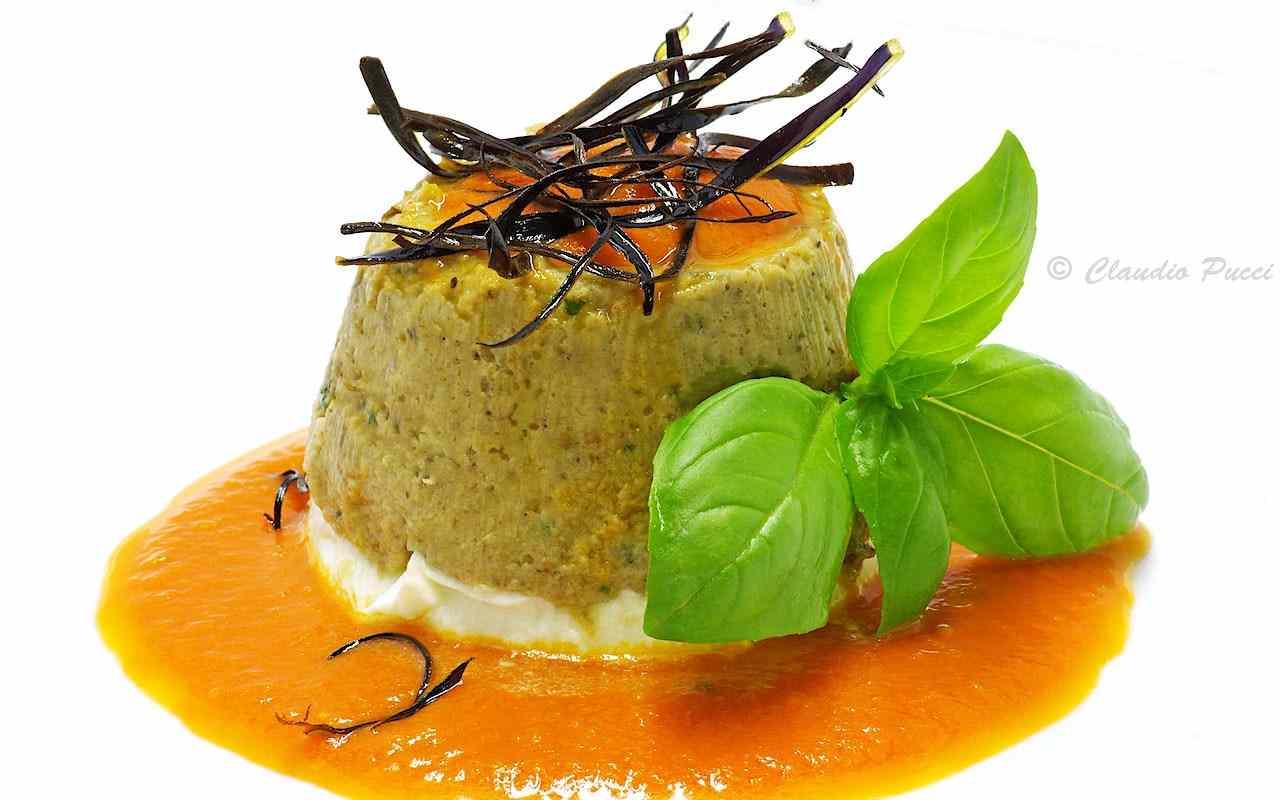 Ricetta: Budino di melanzane con bufala e salsa napoletana