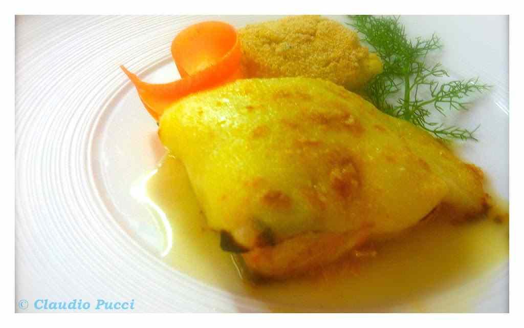 Ricetta: Salmone con le pere in salsa mornay al graten